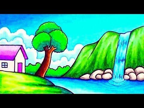 رسم منظر طبيعي سهل جدا خطوة بخطوة رسم فصل الربيع بالقلم الرصاص Youtube Easy Scenery Drawing Scenery Drawing For Kids Easy Drawings