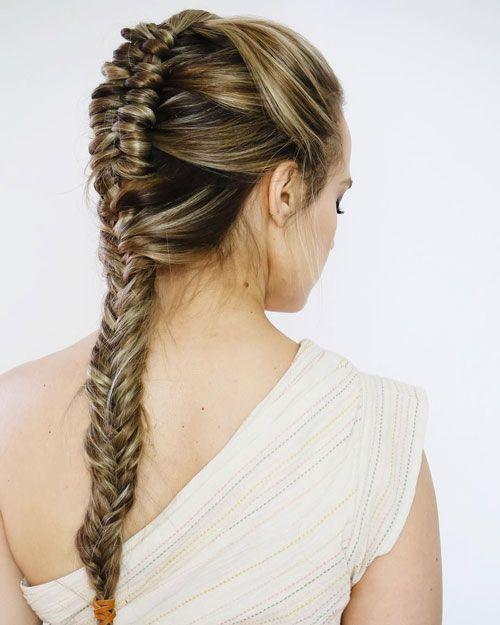 Cute Fishtail Braids For Bridesmaids In 2020 Hair Styles Bridesmaid Hair Long Braided Hairstyles For Wedding