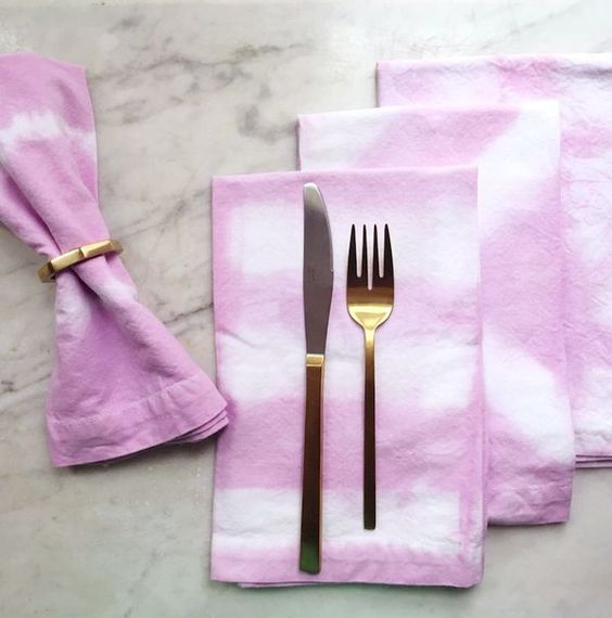Shibori dinner napki