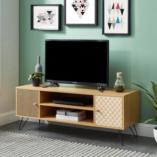 Igor Meuble Tv Vintage Decor Chene Imprime L 120 Cm Decoration Meuble Tv Meuble Tv Deco Appartement