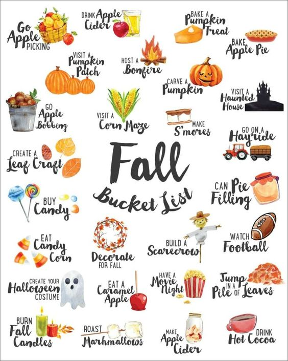 We've combined our favorite ideas into this FREE Fall Bucket List which you can ...  #bucket #combined #fall #favorite #Free #ideas #list #Weve #which
