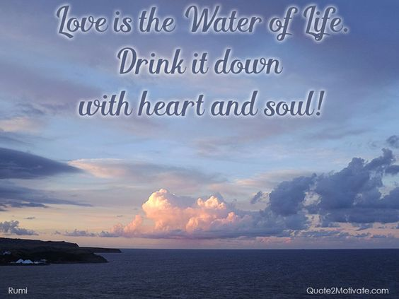 Rumi Quote - Love is always the solution.