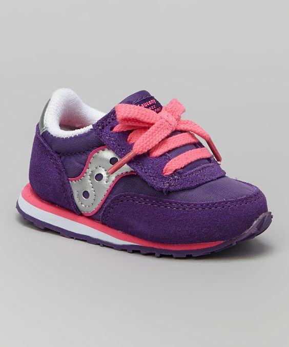 Loving this Saucony Purple G Baby Jazz AC Suede Sneaker on #zulily! #zulilyfinds