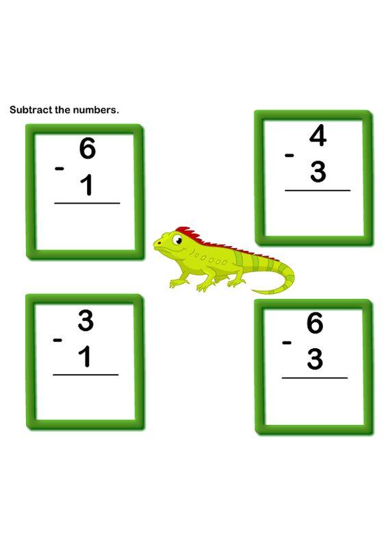 Math Worksheets Kindergarten Worksheets Subtraction Worksheets – Kindergarten Worksheets Free Online