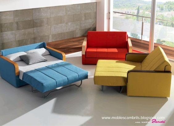 Mobles cambrils sof s cama tr o de ases sof s cama for Sofa cama extensible