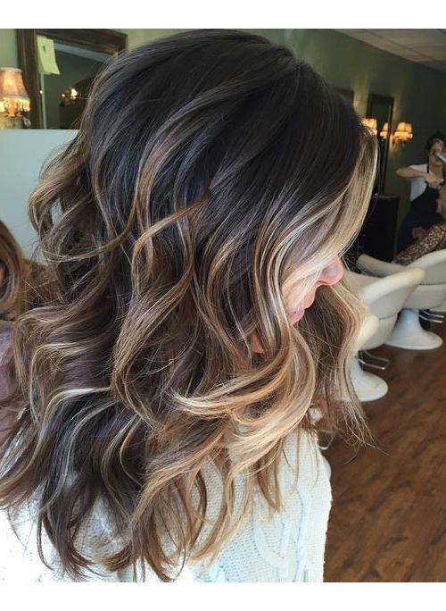 35 Brown Hairstyles With Blonde Highlights That Are Too Pretty To Pass Up Hair Styles Brunette Balayage Hair Fall Hair Color For Brunettes