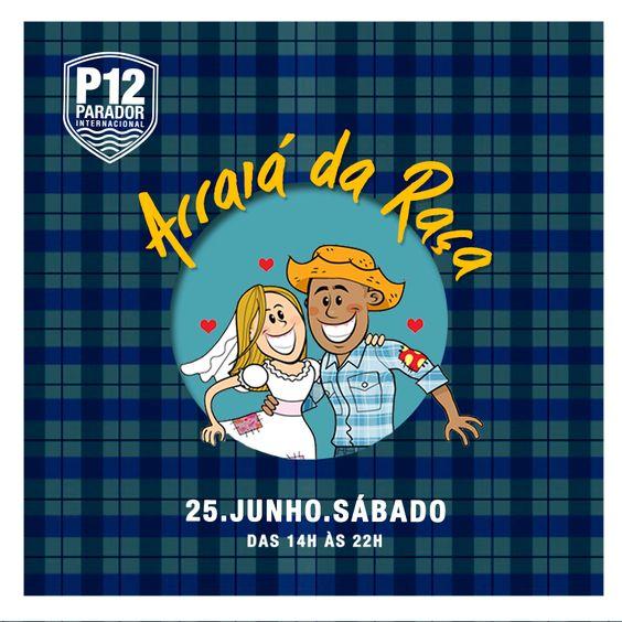Prepare-se para a maior festa junina de Florianópolis! O Arraiá da Raça acontece dia 25 de Junho no P12, com decoração especial, quadrilha, casamento na roça, barraquinhas típicas com pinhão, quentão, pipoca, pé de moleque, doce de leite e muito mais! Para animar a festa, shows com Quinteto Samba Aí, Fábio Dunk, ANDRÉ MARAN e Henrique Fernandes. Ingressos antecipados: http://goo.gl/zR6Vle
