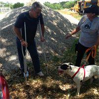 Man reunites with dog after devastating tornado