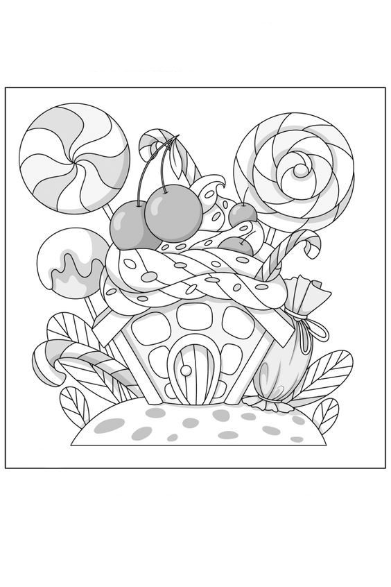 Idea By Penelope Jellen On Drawing In 2020 Candy Coloring Pages