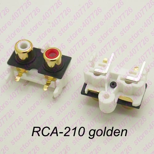 2pcs Pack Pcb Mount 1 Position Stereo Audio Video Jack Rca Female Connector Two Hole W R Rca 210 Golden Review Rca Toy Car Light Accessories