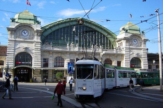 Railway station Basel-Switzerland