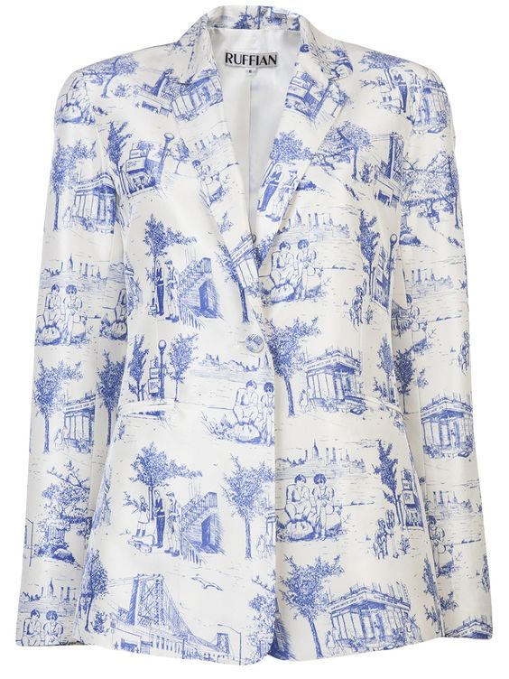 Ruffian Toile De Jouy Blazer - Dressed - farfetch.com