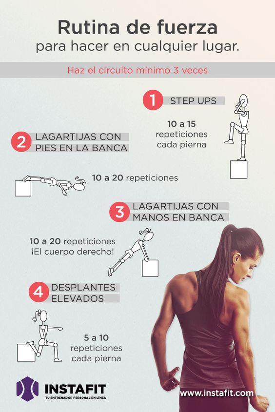 Rutina para adquirir fuerza y marcar músculos sin ir al gym #ejercicio