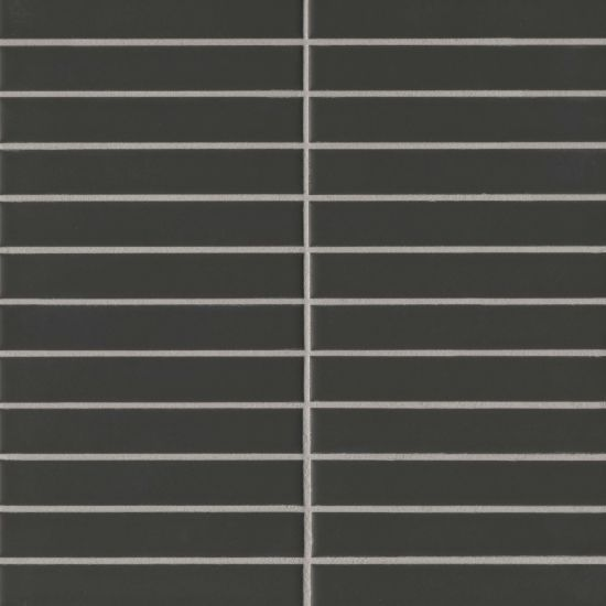 Century 1 X 6 Wall Mosaic In Black In 2020 Porcelain Mosaic Tile Durable Tiles Cheap Living Room Decor