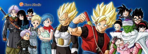 Xeno Family By Karoine Dragon Ball Super Manga Dragon Ball Art Dragon Ball Artwork