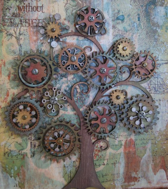 Steampunk tree art diy miscellaneous media crafts for Steampunk arts and crafts