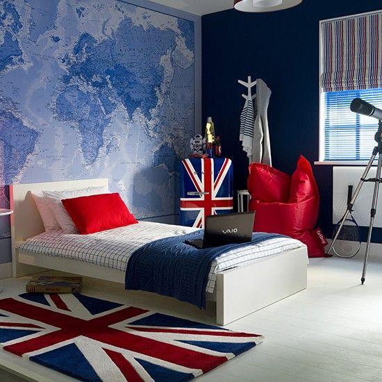 Global themed boy's bedroom | Teenage boy's bedroom ideas | Childrens room | PHOTO GALLERY | Ideal Home | Housetohome.co.uk