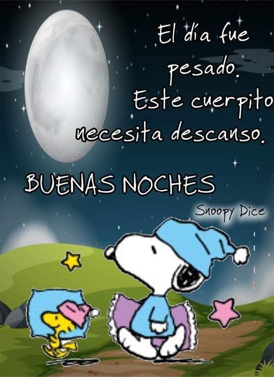 Buenas Noches Feliz Noche Frases Buenas Noches Con Snoopy Mensajes De Buenas Noches
