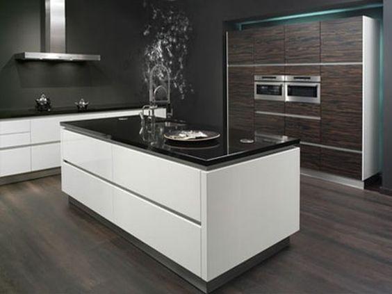 Moderne keuken winkelwagen open haard pinterest met - Deco moderne open haard ...