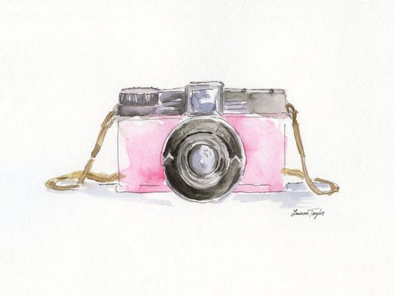 Diana rose appareil photo Giclee Print par LaurenTaylorCreates
