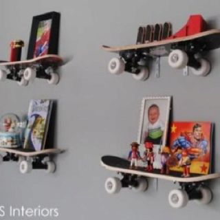 Cute idea. skateboards