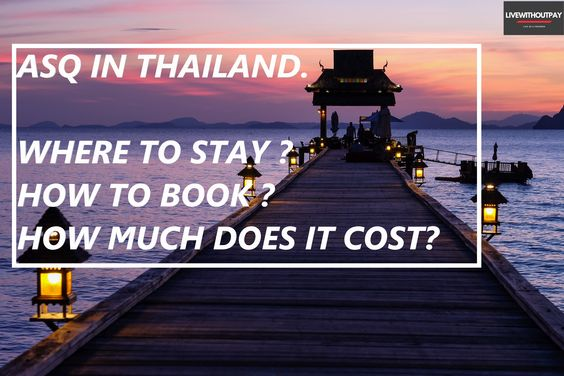 Alternative State Quarantine(ASQ) hotels in Bangkok. Cost & How to book?