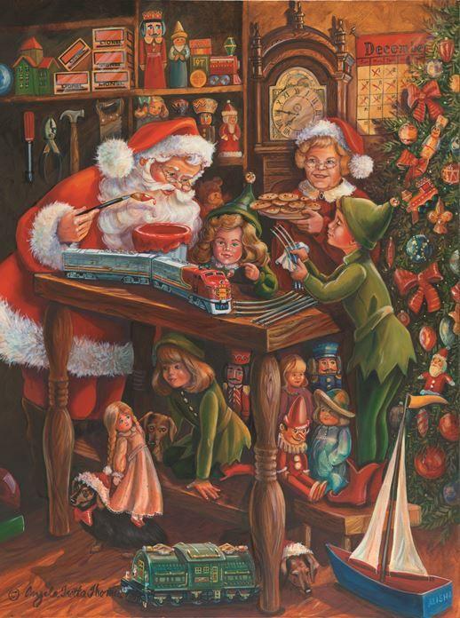 Santa's Workshop - Angela Trotta-Thomas