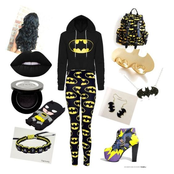"""""""Batman Inspired Day Out/ Watching All The Batman Films"""" by caspar-lee-is-bae-1999 on Polyvore featuring Noir, Shany and Lime Crime"""