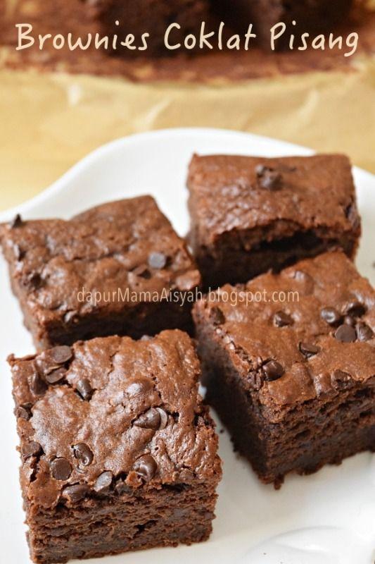 Dapur Mama Aisyah Brownies Coklat Pisang Versi Panggang Makanan Manis Kue Pisang Makanan