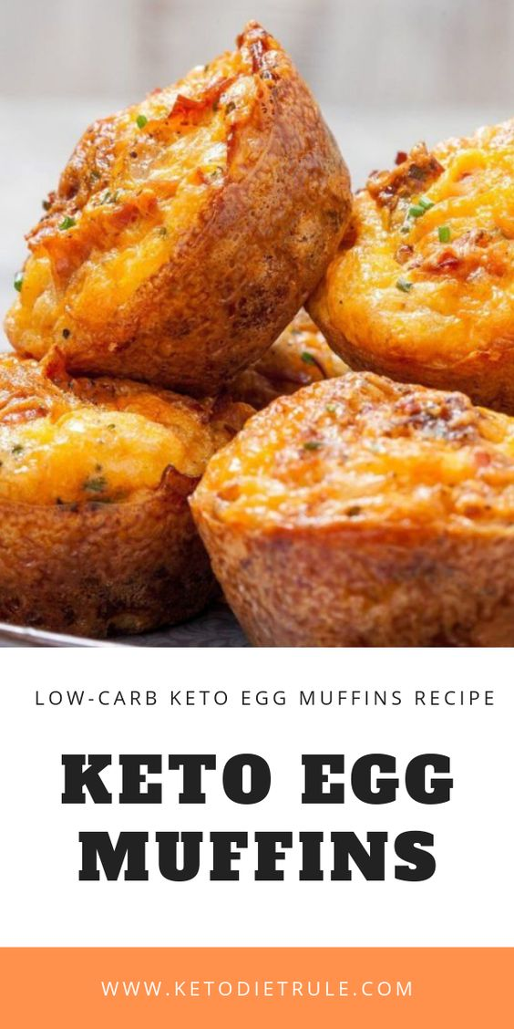 Keto Egg Muffins with Bacon and Cheese