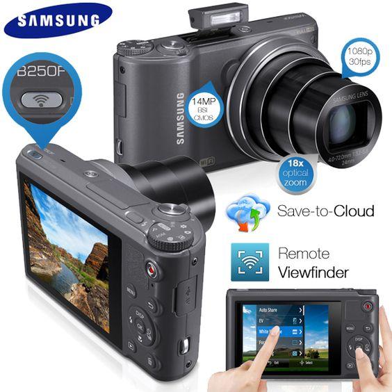 Samsung Smartcamera met WiFi, Touchscreen, 18x zoom- en 24mm groothoeklens! Van € 279,95 voor € 169,95!