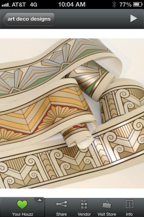 Art deco elements create a contemporary flap