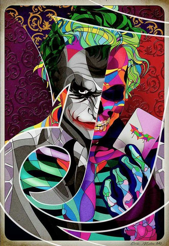 Joker Skull Face by Omar Ricardo Molina Luces: