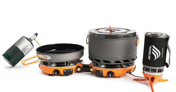 jetboil genesis base camp stove. reinventing the portable camp stove.