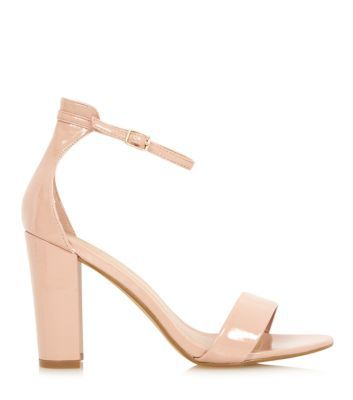 Stone Ankle Strap Open Toe Block Heel Sandals NEW LOOK | Stuff to ...