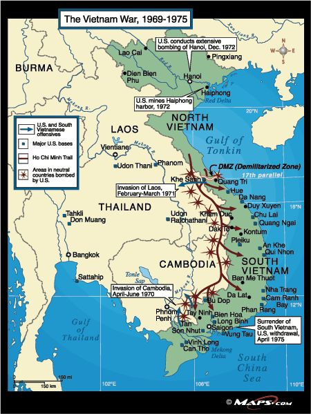 A Map Of The Battles In Vietnam From Odds And Ends - Map of us military bases in vietnam