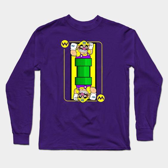Wario Card Long Sleeve T-Shirt