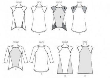 Schirtschnittmuster für ein Damen T-Shirt-Schnittmuster, Burda Schnittmuster und Burda Schnitte - mode-schnitte.de