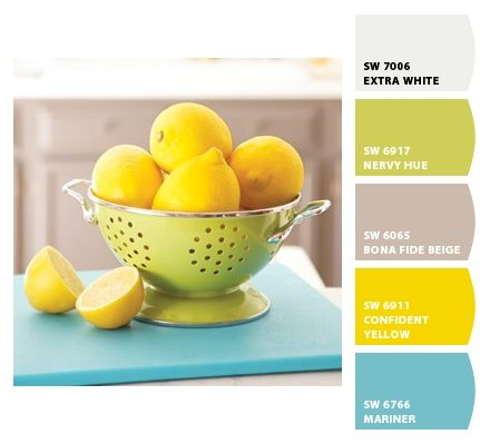 Paint colors from Chip It! via @Sherwin Huang-Williams ||Great colors!