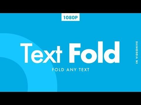Text Fold After Effects Template Youtube Videohive After Effects After Effects Templates