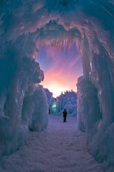 Ice Castle, Utah, USA