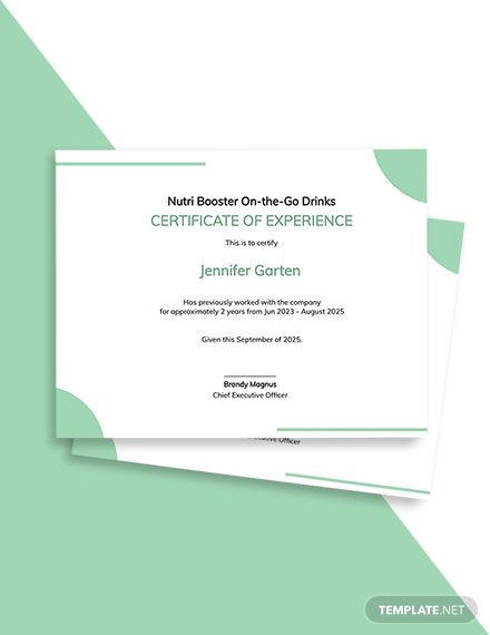 Company Experience Certificate Template In 2020 Certificate Templates Word Doc Templates