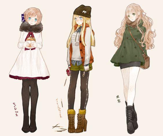 anime fashion illustration - Pesquisa Google: