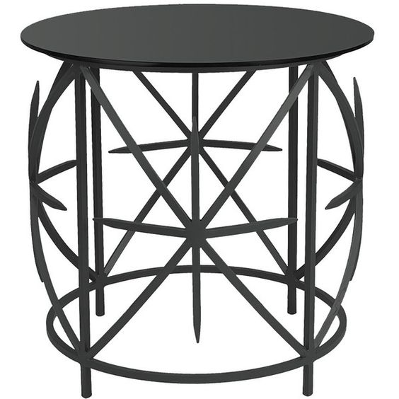 Furness Industrial Loft Geometric Steel Smoked Glass Side Table (¥62,420) ❤ liked on Polyvore featuring home, furniture, tables, accent tables, steel furniture, steel side table, industrial steel furniture, industrial table and steel table