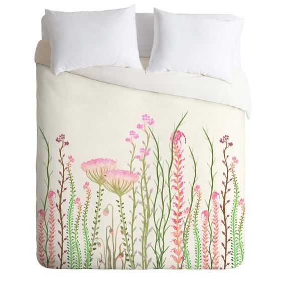 Monika Strigel Grasshoppers Paradise Duvet Cover | DENY Designs Home Accessories
