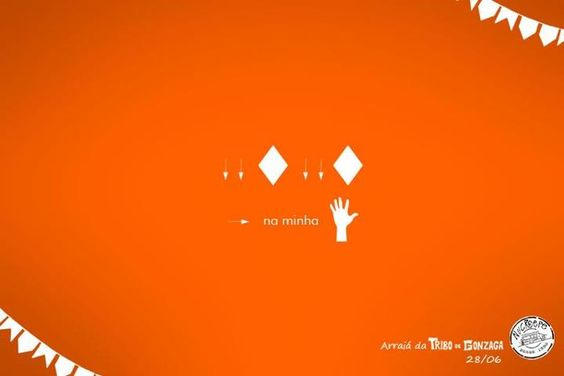 Anúncios minimalistas sobre festa junina - Assuntos Criativos