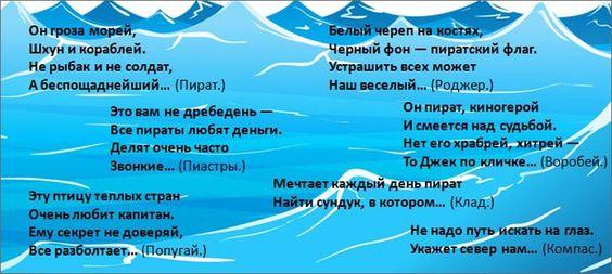 Zagadki Pro Piratov Detskie Igry Piratskaya Vecherinka Scenarij