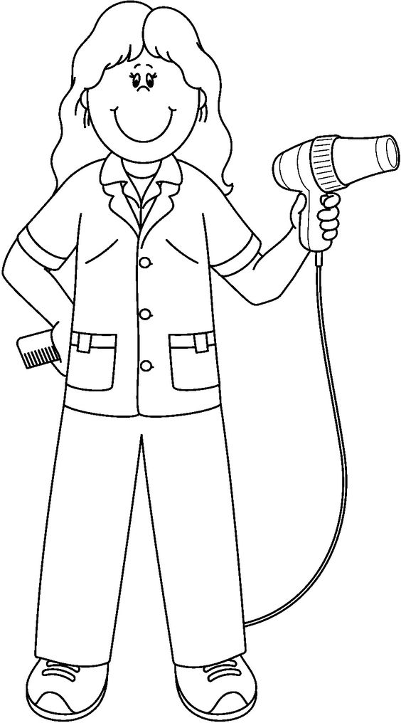 Online Children Community Helpers Coloring Pages New At Creative Girls