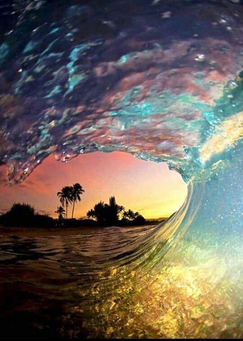 view through wave