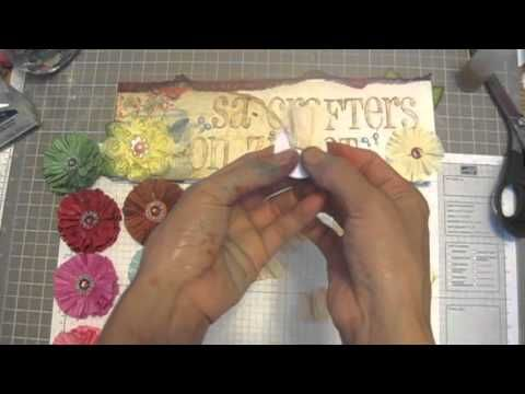 Twisted Paper Cord Flowers Tutorial, and store haul